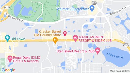 Days Inn by Wyndham Kissimmee FL Map