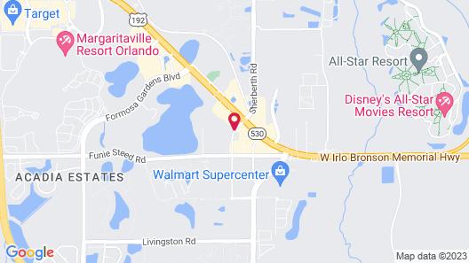 Orbit One Vacation Villas by Diamond Resorts Map