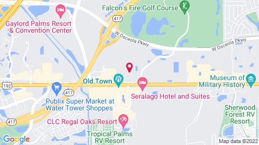 Motel 6 Kissimmee, FL - Orlando Map