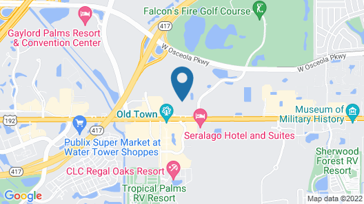 Motel 6 Kissimmee, FL - Orlando Map