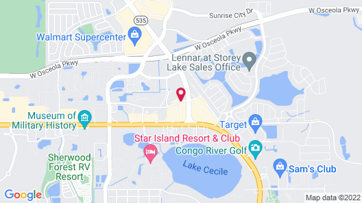 Embassy Suites by Hilton Orlando Lake Buena Vista South Map
