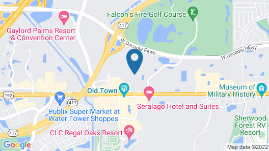 Studio 6 Kissimmee, FL - Orlando Map