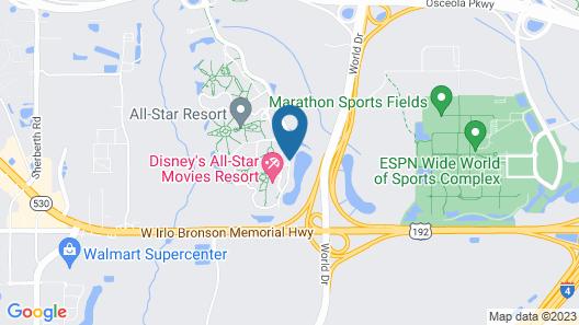 Disney's All-Star Movies Resort Map