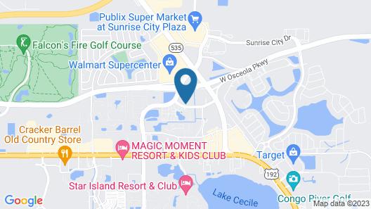 Holiday Inn Express & Suites Orlando-South Lake Buena Vista Map