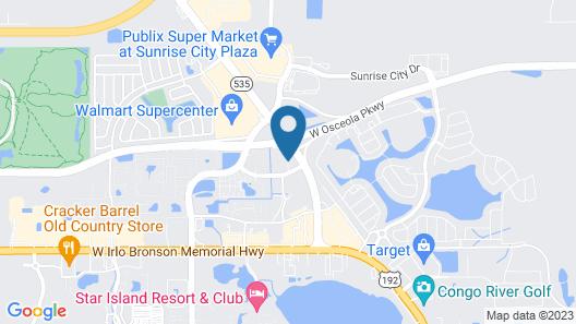 Hampton Inn & Suites Orlando/South Lake Buena Vista, FL Map