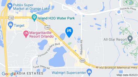 Maingate Lakeside Resort Map