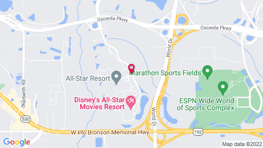 Disney's All-Star Music Resort Map