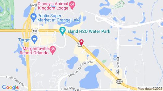 Clarion Suites Kissimmee-Orlando Maingate Map