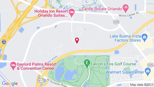 WorldQuest Orlando Resort Map