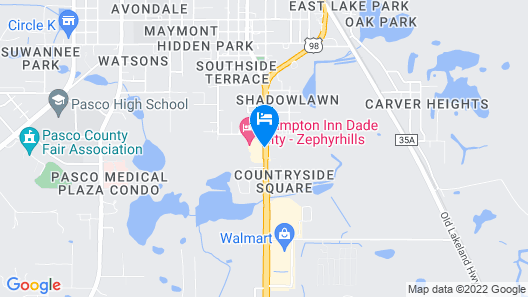 Hampton Inn Dade City Zephyrhills Map
