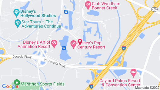 Disney's Pop Century Resort Map