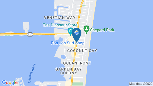 Four Points by Sheraton Cocoa Beach Map