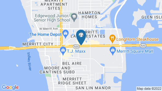 Econo Lodge Port Canaveral Area Map