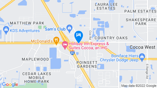 Best Western Cocoa Inn Map