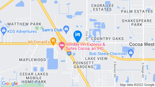 Budget Inn Cocoa I-95 Map