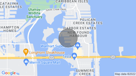 New! Merritt Island Home on Canal - 4 Mi to Beach! Map