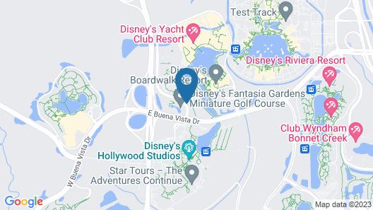 Walt Disney World Swan Map
