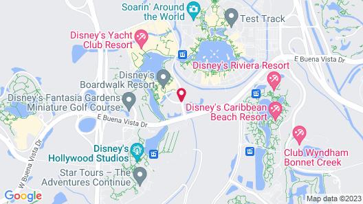 Disney's BoardWalk Villas Map