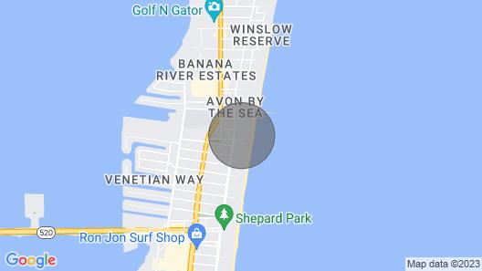 Amazing Ocean Views - Family Friendly - Near Cocoa Beach Pier Map