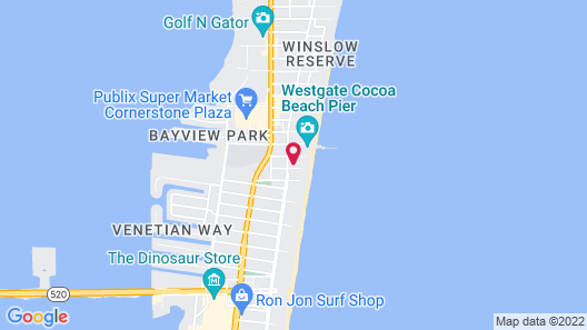 Chateau by the Sea - Stay in Cocoa Beach Map