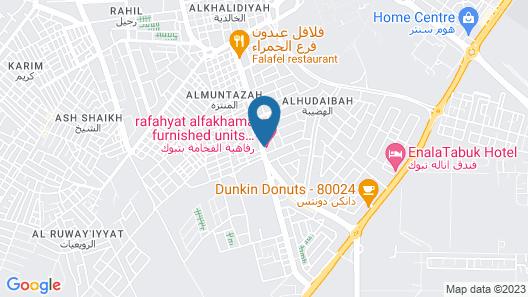 Rafahyat AlFakhama furnished units Map