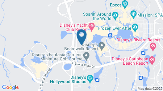 Walt Disney World Dolphin Map