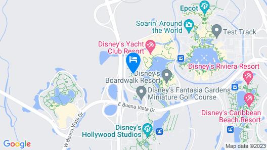 Walt Disney World Dolphin Map