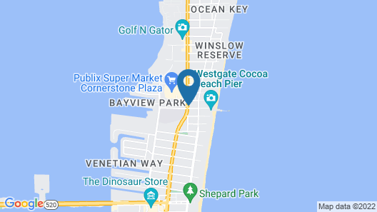 Days Inn by Wyndham Cocoa Beach Port Canaveral Map
