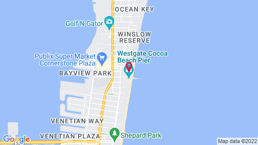 La Quinta Inn & Suites by Wyndham Cocoa Beach Oceanfront Map