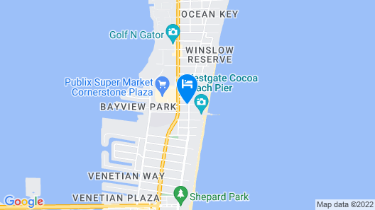 Best Western Cocoa Beach Hotel & Suites Map