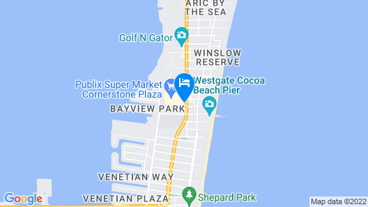 Holiday Inn Express Hotels & Suites Cocoa Beach, an IHG Hotel Map