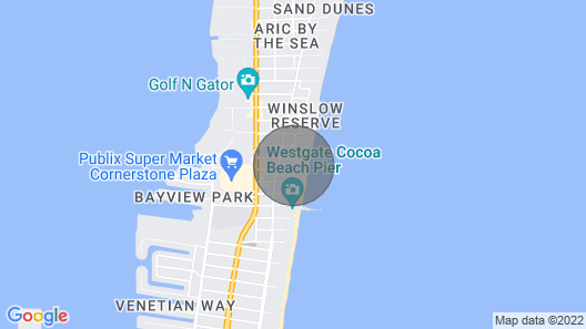 Cocoabeach, Florida, Luxury Oceanfront 2 Bedrms. Disney, Avail. Mar.13-20, 2021 Map