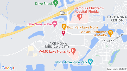 Residence Inn Orlando Lake Nona Map