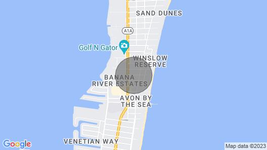 Beautiful BIG Beach House Block TO Beach Near Famous Cocoa Beach Pier Map
