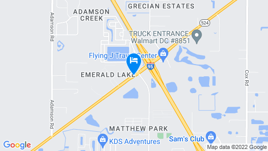 Days Inn by Wyndham Cocoa Cruiseport West At I-95/524 Map