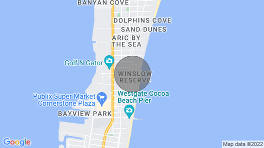 Modern Efficiency in Cocoa Beach With Only a ONE Minute Walk to the Beach! Map