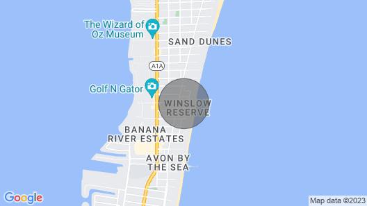 Modern 1BR APT in Cocoa Beach Less Than a ONE Minute Walk to the Beach Map