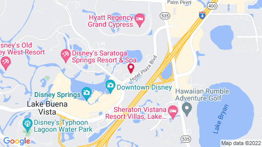 Wyndham Garden Lake Buena Vista Disney Springs® Resort Area Map