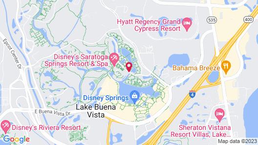 Disney's Saratoga Springs Resort & Spa Map