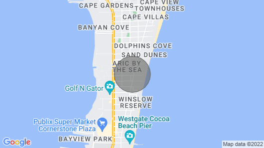 Inviting Garden View Condo W/full Kitchen and Free Wifi! Just 1 Block to Beach Map