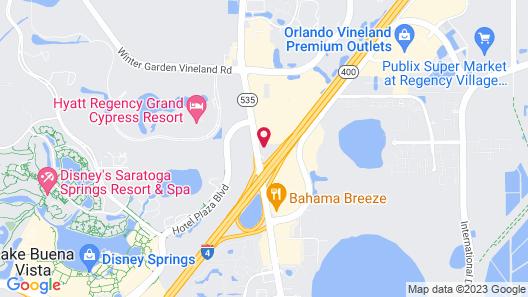 Radisson Hotel Orlando-Lake Buena Vista Map