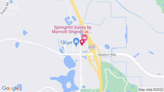 TownePlace Suites Orlando at FLAMINGO CROSSINGS® Town Center/Western Entrance Map