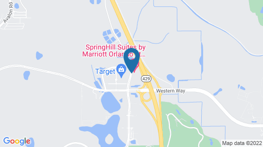 SpringHill Suites Orlando at FLAMINGO CROSSINGS® Town Center/Western Entrance Map
