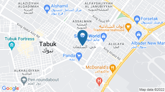 Mena Hotel Tabuk Map