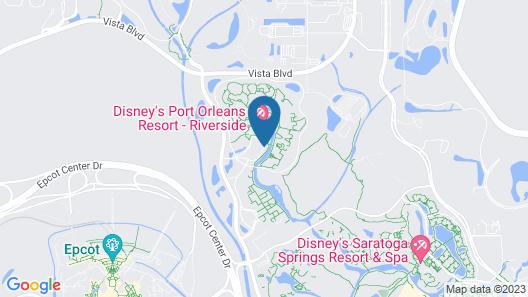 Disney's Port Orleans Resort - Riverside Map