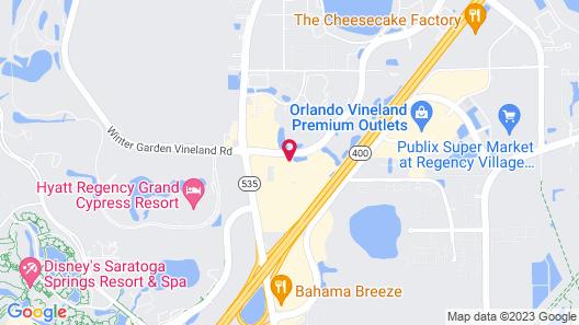 Crowne Plaza Orlando - Lake Buena Vista , an IHG Hotel Map