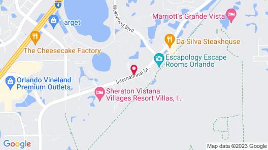 Monumental Hotel Orlando Map