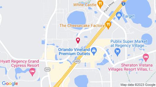 Hampton Inn Lake Buena Vista / Orlando Map