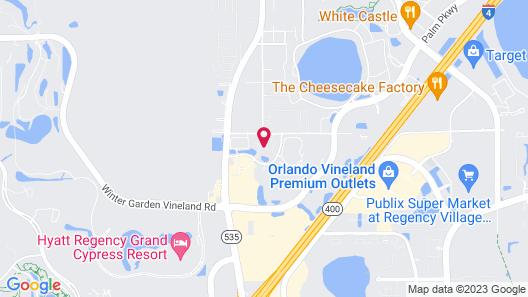 Cypress Pointe Resort by Diamond Resorts Map