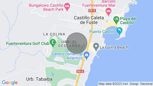 Villa Dreams Caleta DE Fuste- Heater Pool - Golf Course Fuerteventura Map